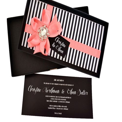 colored invitation boxes