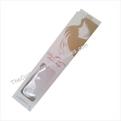 custom hair extension packaging
