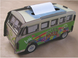 Hippiebus Tissue Boxes