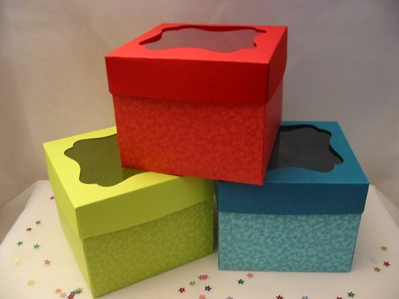 Individual cup Cake Boxes