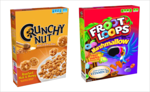 box of cereal