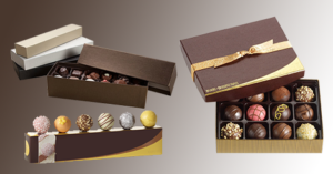 Truffle candy boxes