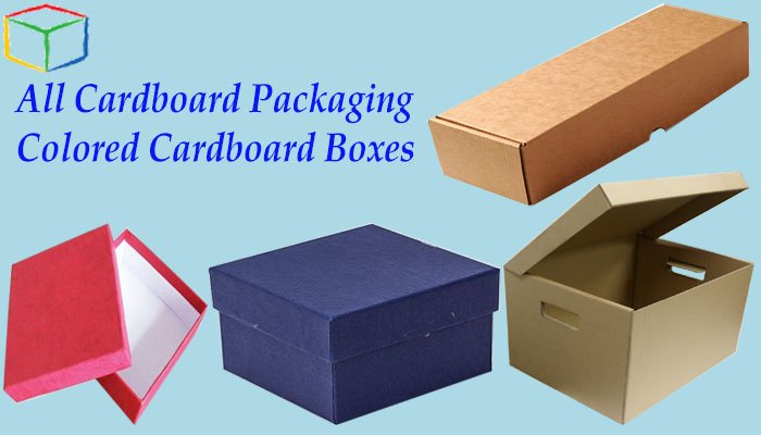 colored cardboard boxes