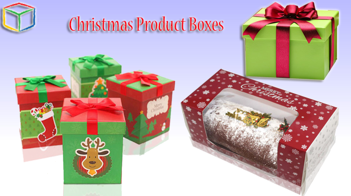 Christmas product boxes
