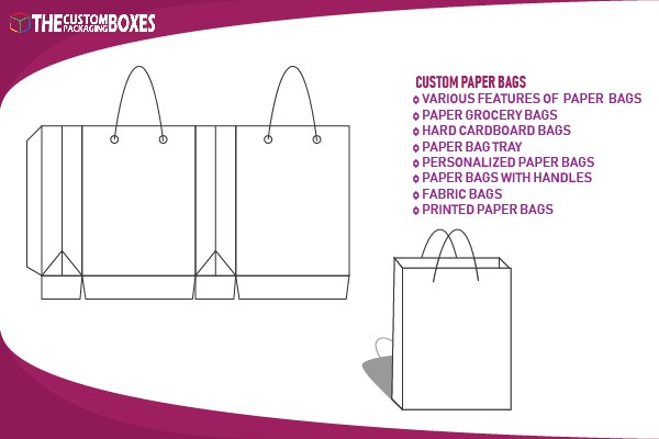 What are the features that make custom paper bags versatile?