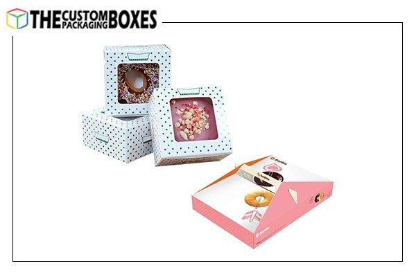 Custom Window donut Boxes