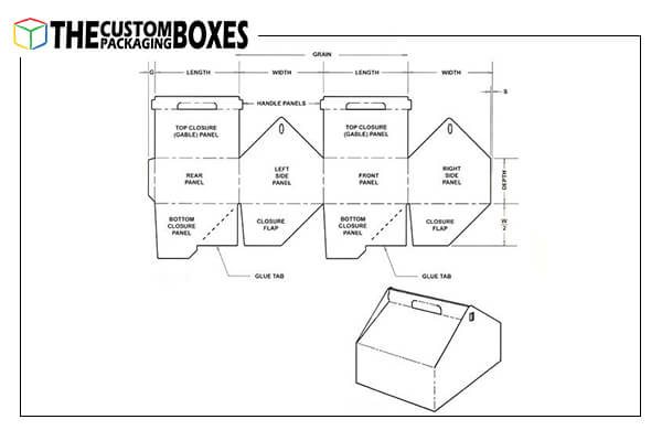 Wholesale printed handle boxes