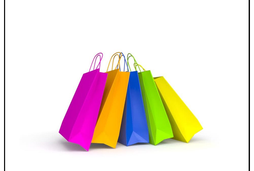 Custom Wholesale Paper Shopping Bags with Handles